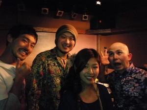 ライブ終了後、上野真史さん&カンタス村田さんと