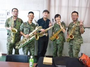 陸上自衛隊第一音楽隊のサックスセクションの皆さんと♪